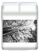Three Trees Reach For The Sky Black And White Duvet Cover