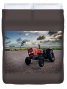Three Wheeled Tractor Duvet Cover