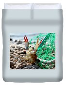 Crab Throw Me Something Mister Duvet Cover