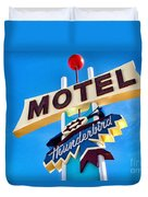 Thunderbird Motel Sign Duvet Cover