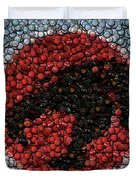 Thundercats Bottle Cap Mosaic Duvet Cover by Paul Van Scott