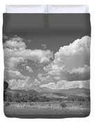 Thunderstorm Clouds Boiling Over The Colorado Rocky Mountains Bw Duvet Cover