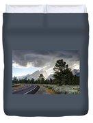 Thunderstorm On Grand Teton Road Duvet Cover
