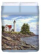 Tibbetts Point Lighthouse Duvet Cover by Richard De Wolfe