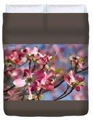Tickled Pink Dogwood Duvet Cover
