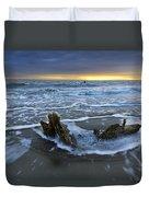 Tides At Driftwood Beach Duvet Cover