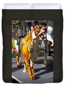 Tiger Carousel Ride Duvet Cover