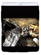Tiger Falls Duvet Cover