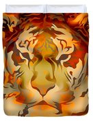 Tiger Illustration Duvet Cover