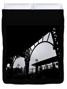 Tiger Stadium Silhouette Duvet Cover by Michelle Calkins