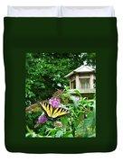 Tiger Swallowtail By The Bird Feeder  Duvet Cover