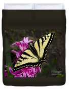 Tiger Swallowtail On Pink Hyacinth Duvet Cover
