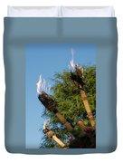 Tiki Torch Duvet Cover