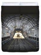 Tikrit, Iraq - A Ch-47 Chinook Duvet Cover