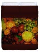 Tiled Fruit  Duvet Cover by Mauro Celotti