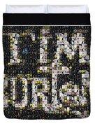 Tim Burton Poster Collection Mosaic Duvet Cover