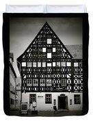 Timber-frame House Weimar Duvet Cover by Christine Till