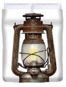 Time Worn Kerosene Lamp Duvet Cover