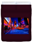 Times Square Nitelife Duvet Cover