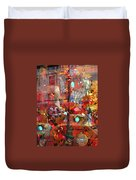 Times Square Reflections Duvet Cover