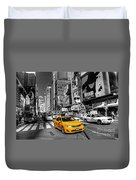 Times Square Taxi  Duvet Cover