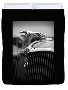 Timmis-ford V8 Greyhound Hood Ornament Duvet Cover