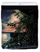 Tin Roof And Vines Duvet Cover