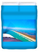 Tiny Airplane Big View II Duvet Cover