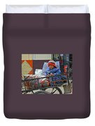Tiny Biker 2 Duvet Cover
