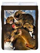 Tiny Bunnies Duvet Cover