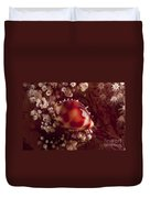 Tiny Cowrie Shell On Dendronephtya Soft Duvet Cover