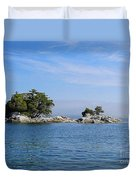 Tiny Island Off Vancouver Island Duvet Cover