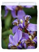Tiny Purple Iris Duvet Cover