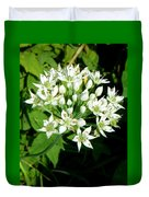 Tiny White Flowers Duvet Cover