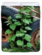 Tires And Ivy Duvet Cover