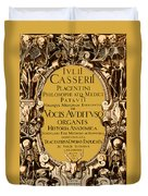 Title Page, Giulio Casserios Anatomy Duvet Cover by Science Source