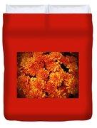 Toasted Orange Chrysanthemums Duvet Cover