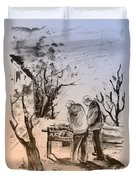Together Old In Cyprus 05 Duvet Cover