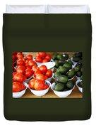 Tomato Y Avacado Duvet Cover