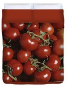 Tomatoes At A Market In Provence Duvet Cover