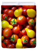 Tomatoes Background Duvet Cover