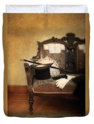 Top Hat And Cane On Sofa Duvet Cover