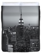 Top Of The Rock Twilight Vi Duvet Cover