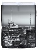 Top Of The Rock Twilight Vii Duvet Cover