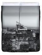 Top Of The Rock Twilight Viii Duvet Cover