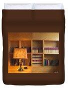 Top Pot's Library Duvet Cover