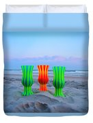 Topsail Hurricane Glasses Duvet Cover