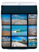 Topsail Island Images Duvet Cover