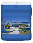 Topsail Island Patio Playground Duvet Cover