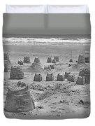 Topsail Island Sandcastle Duvet Cover